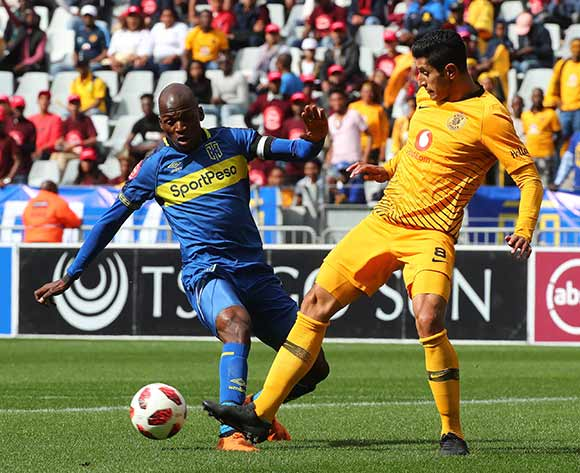 Leonardo Castro of Kaizer Chiefs battles for the ball with Thami Mkhize of Cape Town City during the Absa Premiership 2018/19 football match between Cape Town City FC and Kaizer Chiefs at Cape Town Stadium, Cape Town, 15 September 2018 ©Chris Ricco/BackpagePix