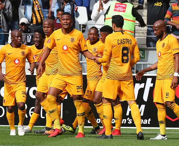 Siyabonga Ngezana of Kaizer Chiefs celebrates goal with teammates during the Absa Premiership 2018/19 football match between Cape Town City FC and Kaizer Chiefs at Cape Town Stadium, Cape Town, 15 September 2018 ©Chris Ricco/BackpagePix