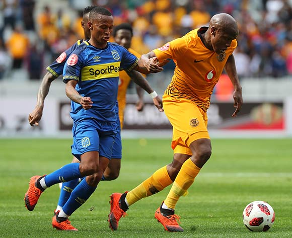 Lebogang Manyama of Kaizer Chiefs evades challenge from Surprise Ralani of Cape Town City during the Absa Premiership 2018/19 football match between Cape Town City FC and Kaizer Chiefs at Cape Town Stadium, Cape Town, 15 September 2018 ©Chris Ricco/BackpagePix