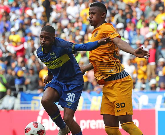Craig Martin of Cape Town City battles for the ball with Siyabonga Ngezana of Kaizer Chiefs  during the Absa Premiership 2018/19 football match between Cape Town City FC and Kaizer Chiefs at Cape Town Stadium, Cape Town, 15 September 2018 ©Chris Ricco/BackpagePix