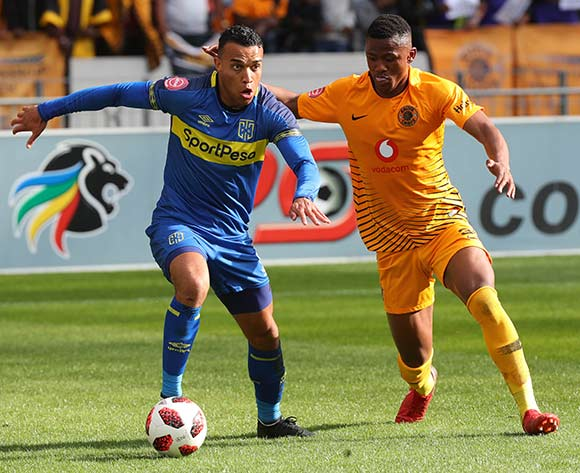 Matthew Rusike of Cape Town City challenged by Siyabonga Ngezana of Kaizer Chiefs during the Absa Premiership 2018/19 football match between Cape Town City FC and Kaizer Chiefs at Cape Town Stadium, Cape Town, 15 September 2018 ©Chris Ricco/BackpagePix