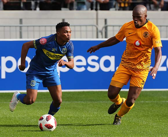 Gift Links of Cape Town City evades challenge from Willard Katsande of Kaizer Chiefs during the Absa Premiership 2018/19 football match between Cape Town City FC and Kaizer Chiefs at Cape Town Stadium, Cape Town, 15 September 2018 ©Chris Ricco/BackpagePix