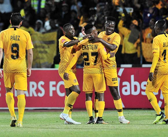 Philani Zulu of Kaizer Chiefs celebrates goal with teammates during the Absa Premiership 2018/19 match between Free State Stars and Kaizer Chief at Goble Park Stadium, Bethlehemon 18 September 2018 ©Samuel Shivambu/BackpagePix