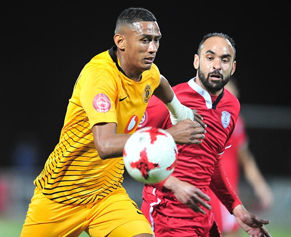 Mario Booysen of Kaizer Chiefs challenged by Eleazar Rodgers of Free State Stars during the Absa Premiership 2018/19 match between Free State Stars and Kaizer Chief at Goble Park Stadium, Bethlehemon 18 September 2018 ©Samuel Shivambu/BackpagePix