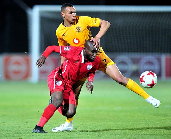 Makhehleni Makhaula of Free State Stars challenged by Ryan Moon of Kaizer Chiefs during the Absa Premiership 2018/19 match between Free State Stars and Kaizer Chief at Goble Park Stadium, Bethlehemon 18 September 2018 ©Samuel Shivambu/BackpagePix