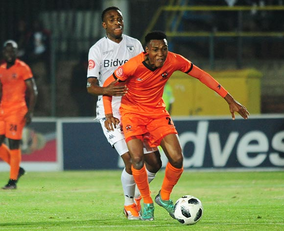 Sammy Seabi of Polokwane City challenges Mxolisi Macuphu of Bidvest Wits during 2018 Absa Premiership match between Bidvest Wits and Polokwane City at Bidvest Wits Stadium in Johannesburg ,South Africa on 21 September 2018 ©Aubrey Kgakatsi/BackpagePix