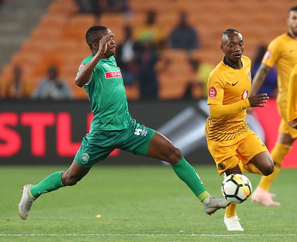 Khama Billiat of Kaizer Chiefs challenged by Butholezwe Ncube of AmaZulu during the Absa Premiership 2018/19 match between Kaizer Chiefs and AmaZulu at the FNB Stadium, Johannesburg on 22 September 2018 ©Muzi Ntombela/BackpagePix