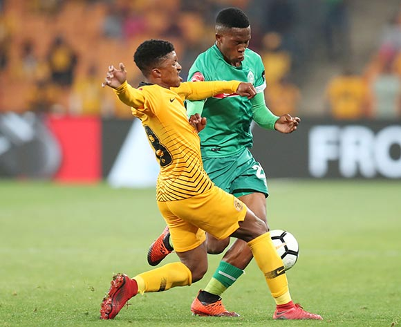 Sibusiso Mabiliso of AmaZulu challenged by Dumisani Zuma of Kaizer Chiefs during the Absa Premiership 2018/19 match between Kaizer Chiefs and AmaZulu at the FNB Stadium, Johannesburg on 22 September 2018 ©Muzi Ntombela/BackpagePix