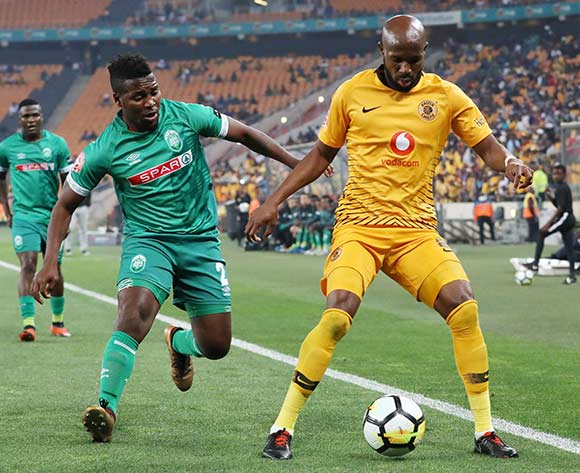 Ramahlwe Mphahlele of Kaizer Chiefs challenged by Mabhuti Khenyeza of AmaZulu during the Absa Premiership 2018/19 match between Kaizer Chiefs and AmaZulu at the FNB Stadium, Johannesburg on 22 September 2018 ©Muzi Ntombela/BackpagePix