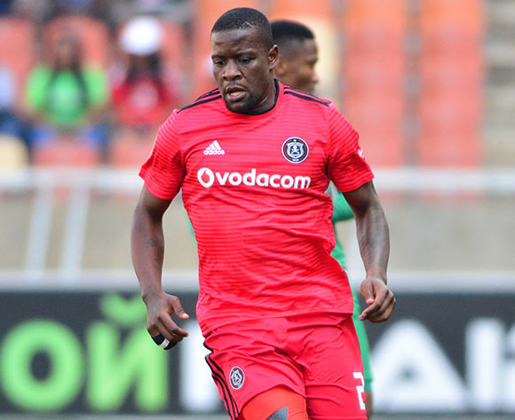 Ntsikelelo Nyauza of Orlando Pirates during the Absa Premiership 2018/19 game between Baroka FC and Orlando Pirates at Peter Mokaba Stadium in Polokwane the on 22 September 2018 © Kabelo Leputu/BackpagePix