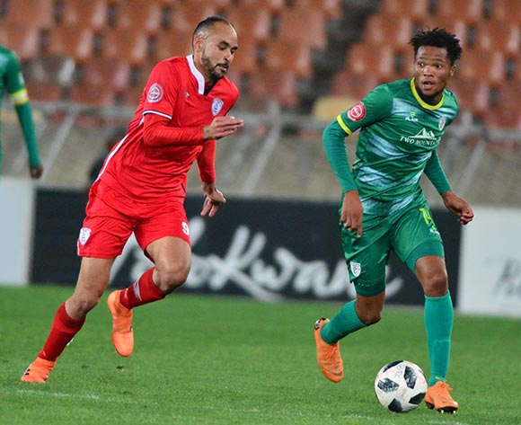 Goodman Mosele of Baroka FC and Eleazar Rodgers of Free State Stars during the Absa Premiership 2018/19 game between Baroka FC and Free State Stars at Peter Mokaba Stadium in Polokwane the on 26 September 2018 © Kabelo Leputu/BackpagePix
