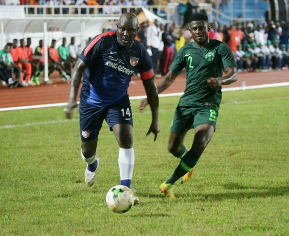 Liberia president George Weah plays in friendly against Nigeria