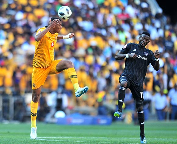 Mario Booysen of Kaizer Chiefs challenged by Augustine Mulenga of Orlando Pirates during the Absa Premiership 2018/19 match between Orlando Pirates and Kaizer Chiefs at FNB Stadium, Johannesburg on 27 October 2018 ©Samuel Shivambu/BackpagePix