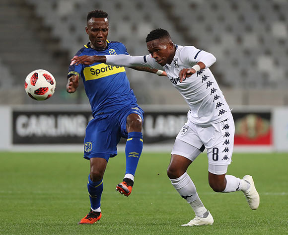 Thabang Monare of Bidvest Wits battles for the ball with Teko Modise of Cape Town City during the Absa Premiership 2018/19 football match between Cape Town City FC and Bidvest Wits at Cape Town Stadium, Cape Town on 2 October 2018 ©Chris Ricco/BackpagePix