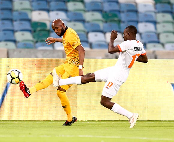 Ramahlwe Mphahlele of Kaizer Chiefs and Rodney Ramagalela of Polokwane City during the Absa Premiership 2018/19 game between Kaizer Chiefs and Polokwane City Moses Mabhida Stadium on 06 October 2018 ©BackpagePix