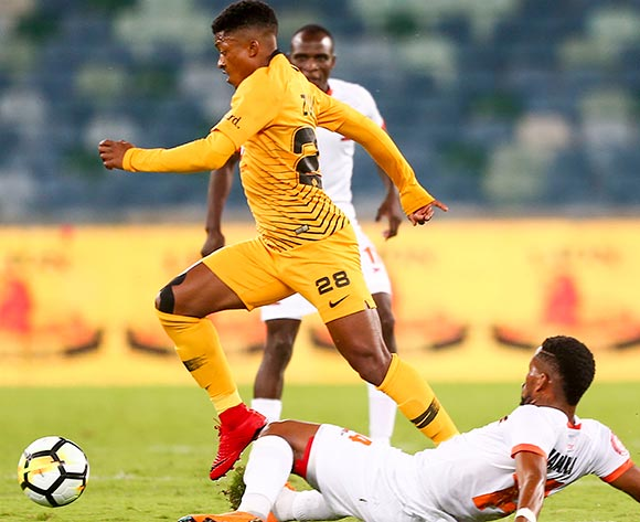 Dumisani Zuma of Kaizer Chiefs and Vusimuzi Mngomezulu of Polokwane City during the Absa Premiership 2018/19 game between Kaizer Chiefs and Polokwane City Moses Mabhida Stadium on 06 October 2018 ©BackpagePix