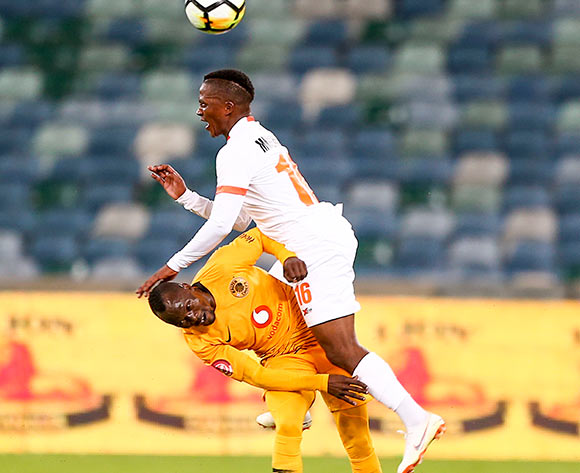 Godfrey Walusimbi Kaizer Chiefs and Vusimuzi Manaka of Polewane during the Absa Premiership 2018/19 game between Kaizer Chiefs and Polokwane City Moses Mabhida Stadium on 06 October 2018 ©BackpagePix
