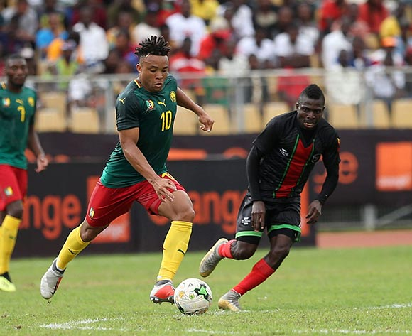 Pierre Kunde Malong of Cameroon during the 2019 Afcon qualifying football match between Cameroon and Malawi at the Hamadou Ahidjo Stadium in Yaounde, Cameroon on 12 October 2018 ©Alain Suffo/BackpagePix
