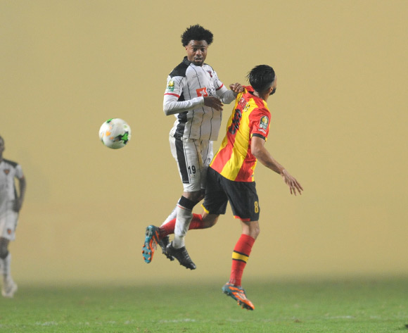 Salomao Troco of Club Desportivo 1 de Agosto Anice Badri of Esperance and during the 2018 CAF Champions League Semifinal 2nd Leg game between Esperance and Club Desportivo 1 de Agosto at Stade Olympique 07 Novemre Rades - Tunis - Tunisia on 23 October 2018 © Osmar Edgar/BackpagePix