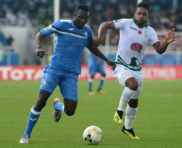 Ibrahim Mustapha of Enyimba during the 2018 CAF Confederation Cup match between Enyimba FC of Nigeria v Raja Club Athletic of Morocco on October 3rd 2018 at Enyimba International Stadium,Aba © Kabiru Abubakar/fotodezamora