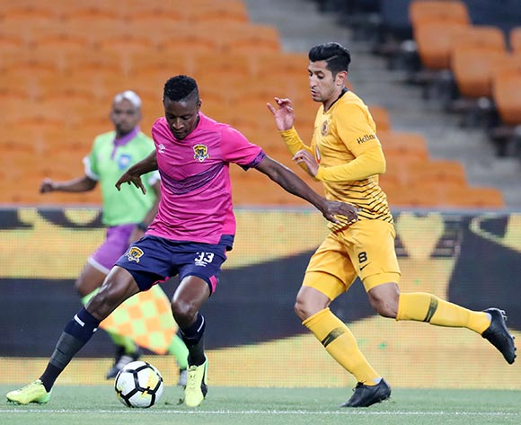 Chris Katjiukia of Black Leopards challenged by Leonardo Castro of Kaizer Chiefs during the Absa Premiership 2018/19 match between Kaizer Chiefs and Black Leopards at the FNB Stadium, Johannesburg on 07 November 2018 ©Muzi Ntombela/BackpagePix