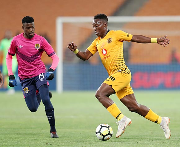 Philani Zulu of Kaizer Chiefs challenged by Phathutshedzo Nange of Black Leopards during the Absa Premiership 2018/19 match between Kaizer Chiefs and Black Leopards at the FNB Stadium, Johannesburg on 07 November 2018 ©Muzi Ntombela/BackpagePix