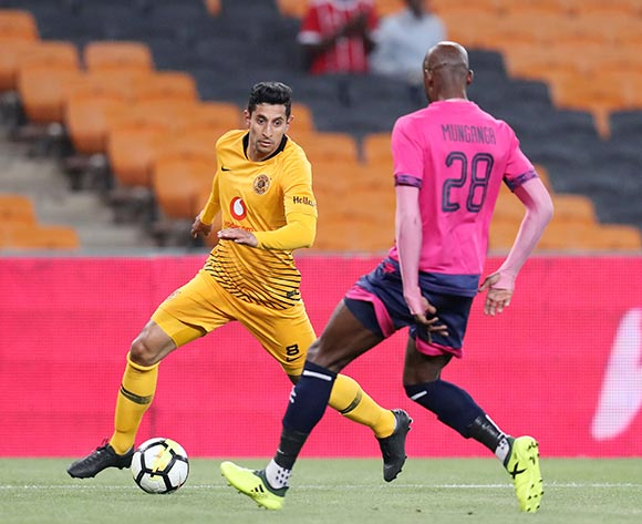 Leonardo Castro of Kaizer Chiefs challenged by Jean Munganga of Black Leopards during the Absa Premiership 2018/19 match between Kaizer Chiefs and Black Leopards at the FNB Stadium, Johannesburg on 07 November 2018 ©Muzi Ntombela/BackpagePix