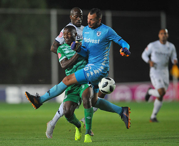 Victor Letsoalo of Bloemfontein Celtic is tackled by Darren Keet of Bidvest Wits during the Absa Premiership match between Bidvest Wits and Bloemfontein Celtic on the 10 November 2018 at Bidvest Stadium  / Pic Sydney Mahlangu/BackpagePix