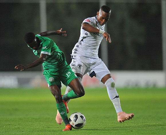 Neo Maema of Bloemfontein Celtic is challenged by Vuyo Mere of Bidvest Wits during the Absa Premiership match between Bidvest Wits and Bloemfontein Celtic on the 10 November 2018 at Bidvest Stadium  / Pic Sydney Mahlangu/BackpagePix