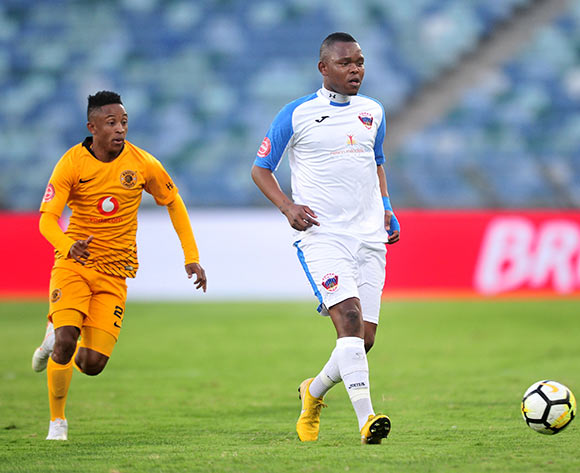 Lerato Manzini of Chippa United challenged by Hendrick Ekstein of Kaizer Chiefs during the Absa Premiership 2018/19 match between Kaizer Chiefs and Chippa United at Moses Mabhida Stadium, Durban on 10 November 2018 ©Samuel Shivambu/BackpagePix