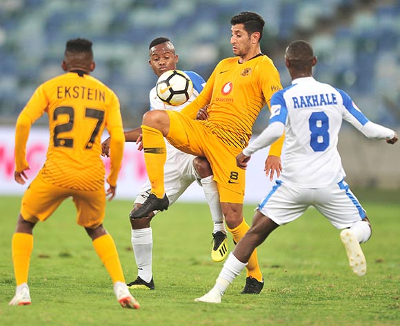 Leonardo Castro of Kaizer Chiefs challenged by Thabo Rakhale of Chippa United during the Absa Premiership 2018/19 match between Kaizer Chiefs and Chippa United at Moses Mabhida Stadium, Durban on 10 November 2018 ©Samuel Shivambu/BackpagePix