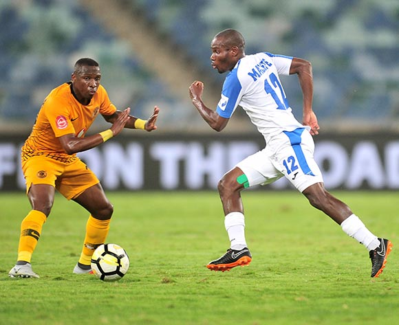 Tercious Malepe of Chippa United challenged by George Maluleka of Kaizer Chiefs during the Absa Premiership 2018/19 match between Kaizer Chiefs and Chippa United at Moses Mabhida Stadium, Durban on 10 November 2018 ©Samuel Shivambu/BackpagePix