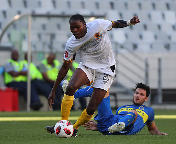Eden Nene of Black Leopards evades challenge from Roland Putsche of Cape Town City during the Absa Premiership 2018/19 football match between Cape Town City FC and Black Leopards at Cape Town Stadium, Cape Town on 11 November 2018 ©Chris Ricco/BackpagePix