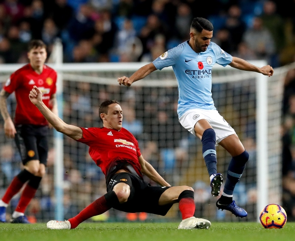 WATCH: Algerian Riyad Mahrez's Man City down the Red Devils