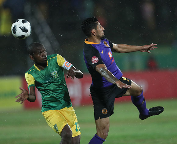Leonardo Castro of Kaizer Chiefs and Nkanyiso Mngwengwe of Golden Arrows during the Absa Premiership 2018/19 game between Golden Arrows and Kaizer Chiefs at Princess Magogo Stadium on 1 December 2018 © Howard Cleland/BackpagePix