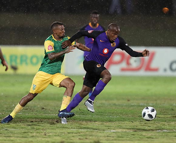 Lebogang Manyama of Kaizer Chiefs and Wayde Jooste of Golden Arrows during the Absa Premiership 2018/19 game between Golden Arrows and Kaizer Chiefs at Princess Magogo Stadium on 1 December 2018 © Howard Cleland/BackpagePix