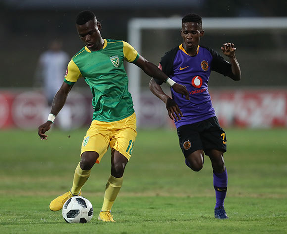 Divine Lunga of Golden Arrows and Kabelo Mahlasela of Kaizer Chiefs during the Absa Premiership 2018/19 game between Golden Arrows and Kaizer Chiefs at Princess Magogo Stadium on 1 December 2018 © Howard Cleland/BackpagePix