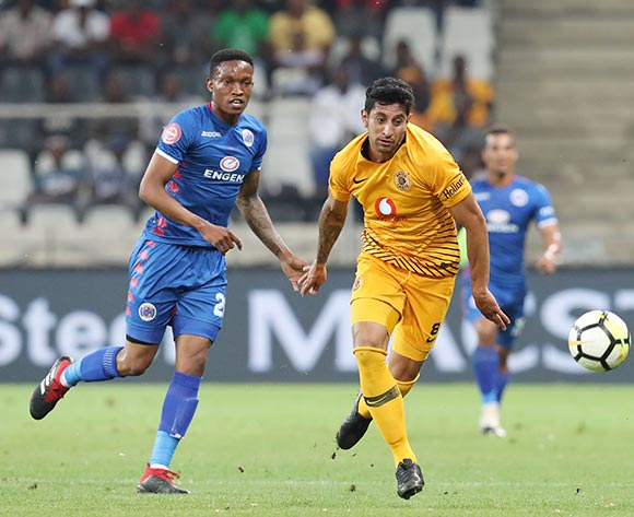 Leonardo Castro of Kaizer Chiefs challenged by Grant Kekana of Supersport United during the Absa Premiership 2018/19 match between Kaizer Chiefs and Supersport United at the Mbombela Stadium, Nelspruit on 12 December 2018 ©Muzi Ntombela/BackpagePix