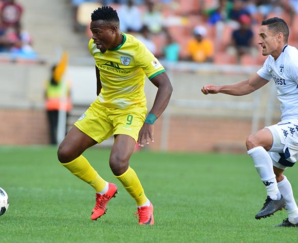 Ranga Chivaviro of Baroka FC and Cole Alexander of Bidvest Wits during the Absa Premiership 2018/19 game between Baroka FC and Bidvest Wits at Peter Mokaba Stadium in Polokwane the on 16 December 2018 © Kabelo Leputu/BackpagePix