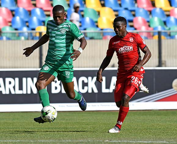 Ndumiso Mabena from Bloemfontein Celtic FC and Phoka Mofokeng from Highlands Park FC during the Absa Premiership 2018/19 game between lBloemfontein Celtic FC and Highlands Park at Dr Molemela Stadium, Bloemfontein on 17 December 2018 © Gerhard Steenkamp/BackpagePix