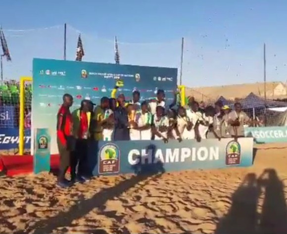 VIDEO: Senegal celebrate after clinching Beach Soccer AFCON title