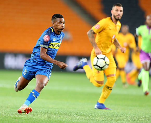 Gift Links of Cape Town City challenged by Daniel Cardoso of Kaizer Chiefs during the Absa Premiership 2018/19 match between Kaizer Chiefs and Cape Town City at FNB Stadium, Johannesburg on 30 January 2019 ©Samuel Shivambu/BackpagePix