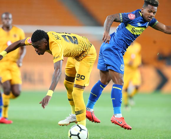 Kermit Erasmus of Cape Town City challenged by Teenage Hadebe of Kaizer Chiefs during the Absa Premiership 2018/19 match between Kaizer Chiefs and Cape Town City at FNB Stadium, Johannesburg on 30 January 2019 ©Samuel Shivambu/BackpagePix