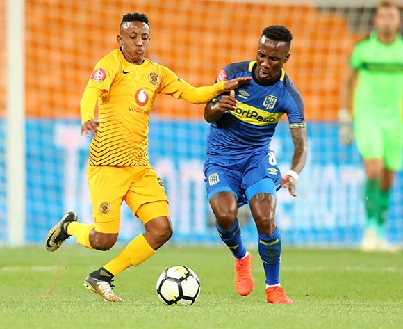 Hendrick Ekstein of Kaizer Chiefs challenged by Teko Modise of Cape Town City during the Absa Premiership 2018/19 match between Kaizer Chiefs and Cape Town City at FNB Stadium, Johannesburg on 30 January 2019 ©Samuel Shivambu/BackpagePix