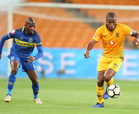 Willard Katsande of Kaizer Chiefs challenged by Thamsanqa Mkhize of Cape Town City during the Absa Premiership 2018/19 match between Kaizer Chiefs and Cape Town City at FNB Stadium, Johannesburg on 30 January 2019 ©Samuel Shivambu/BackpagePix