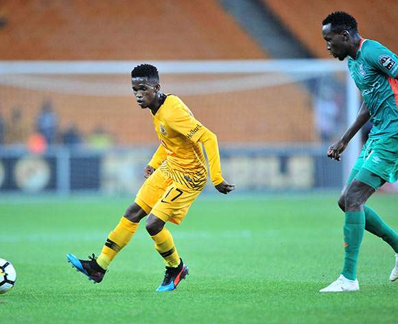Kabelo Mahlasela of Kaizer Chiefs challenged by Kondwani Mtonga of Zesco during the CAF Confederation Cup 2018/19 match between Kaizer Chiefs and Zesco at FNB Stadium, Johannesburg on 19 January 2019 ©Samuel Shivambu/BackpagePix