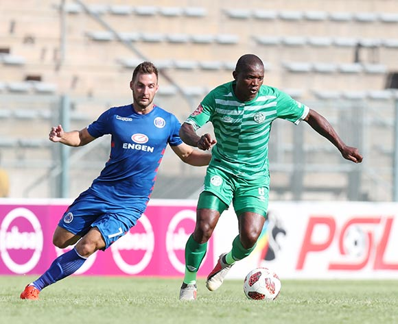 Lantshene Phalane of Bloemfontein Celtic challenged by Bradley Grobler of Supersport United during the Absa Premiership 2018/19 match between Supersport United and Bloemfontein Celtic at the Lucas Moripe Stadium, Atteridgeville on the 20 January 2019 ©Muzi Ntombela/BackpagePix