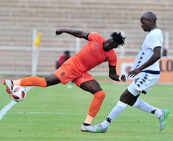 Mohammed Anas of Polokwane City challenged by Lehlohonolo Nonyane of Bidvest Wits  during the Absa Premiership 2018/19 match between Polokwane City and Bidvest Wits at Old Peter Mokaba Stadium, Polokwane on 20 January 2019 ©Samuel Shivambu/BackpagePix