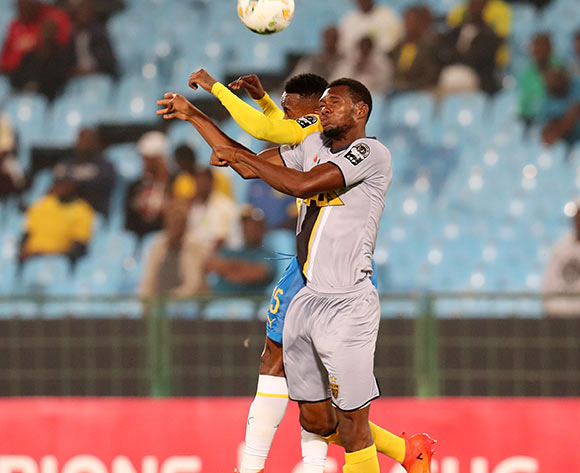 Oumar Sako of Asec Mimosas challenged by Lebohang Maboe of Mamelodi Sundowns during the 2019 TOTAL CAF Champions League match between Mamelodi Sundowns and Asec Mimosas at the Loftus Versveld Stadium, Pretoria on the 01 February 2019 ©Muzi Ntombela/BackpagePix