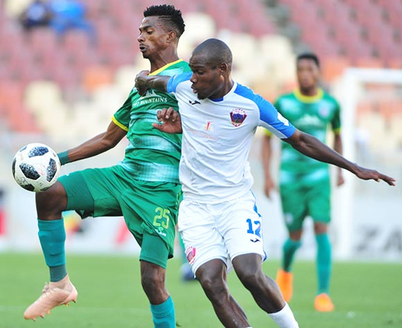 Tebogo Sodi of Baroka FC and Tercious Malepe of Chippa United during the Absa Premiership 2018/19 game between Baroka FC and Chippa United at Peter Mokaba Stadium in Polokwane the on 03 February 2019 © Kabelo Leputu/BackpagePix